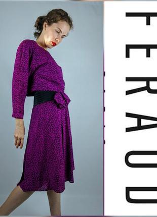 Винтажное шелковое платье louis feraud
