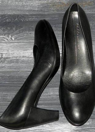 Ecco shape 55 ! оригинальные, кожаные, невероятно крутые туфли на устойчивом каблуке