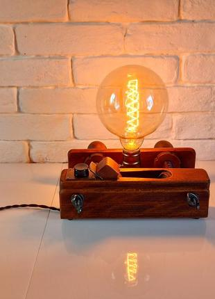 Настольная лампа-ночник шпунтубель лофт стимпанк
