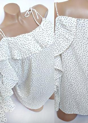 Романтичная блуза в горох от lipsy size uk 16