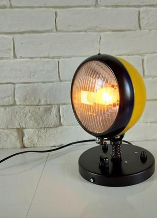 Лофт стимпанк настольная лампа-ночник,фара,  байкер, лофт,  стимпанк