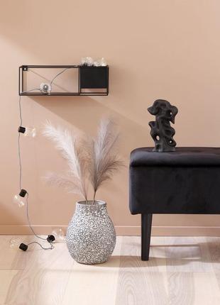 Шикарная , очень красивая ваза серо- серебрянная