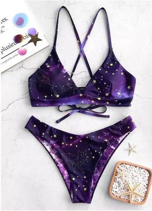 Купальник космос звезды фиолетовый