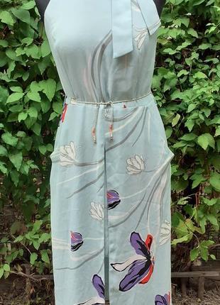 Платье макси в пол летний американка в цветок цветочек цветочный принт