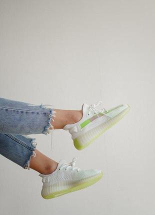 Кроссовки adidas yeezy boost 350 v2  white green арт №591