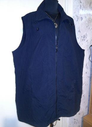 Стильная,чёрная жилетка-дождевик,с карманами,большого размера,унисекс,canda c&a