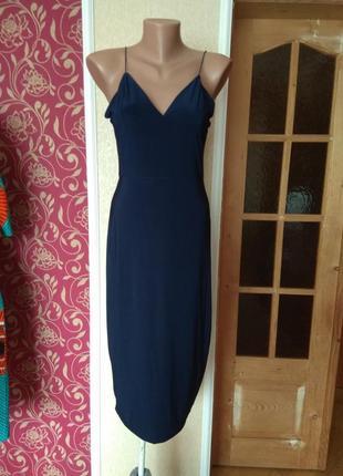 Плаття сине сексі з біркою нове ,розмір 12\40