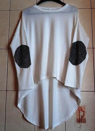 Крутая ассиметричная белоснежная футболка