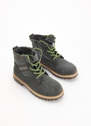 Трекинговые ботинки с кожаными вставками