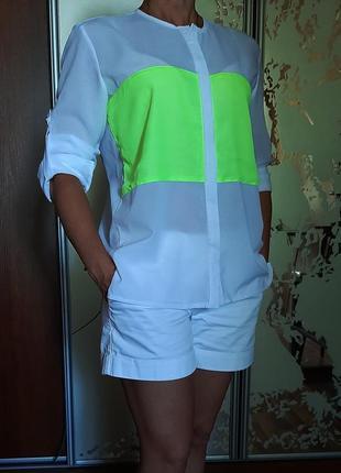 Белснежная шифоновая рубашка mosquito