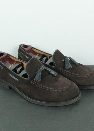 Шикарные оригинальные лоферы brunello cucinelli suede tasselled loafers