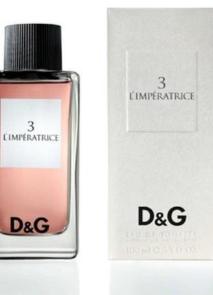 Dolce&gabbana anthology l`imperatrice 3 туалетная вода