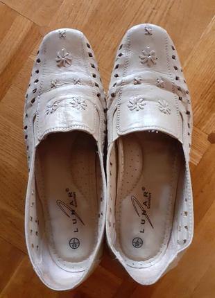 Кожаные балетки туфли для мамы