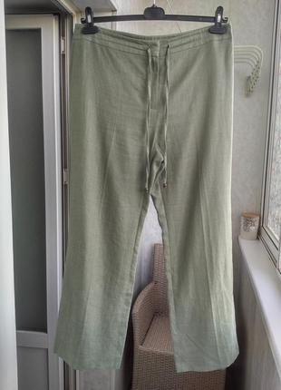 Льняные летние брюки италия р.14 l от collection corneliani8 фото