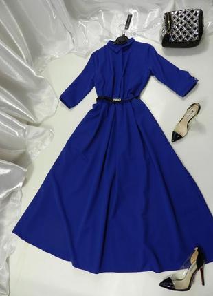 ✅красивенно пышное платье в пол с кармашками и пояском