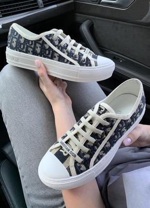 Кросівки кеди dior low-top black/beige   кроссовки кеды