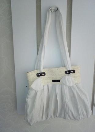 Сумка сумочка белая тканевая