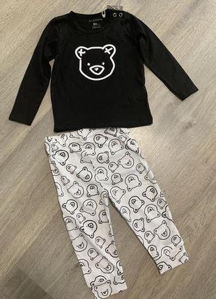 Хлопковая пижама длинный рукав