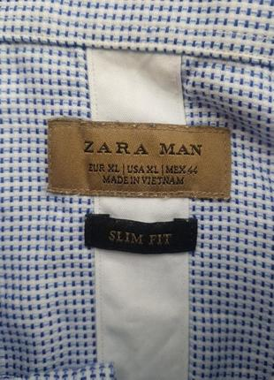 Скидка брендовая базовая рубашка zara в мелкую клетку xl