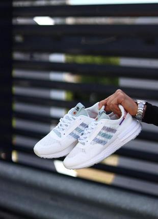 Идеальные белые кроссовки adidas zx 500 rm white ! адидас zx 500 ! наложка