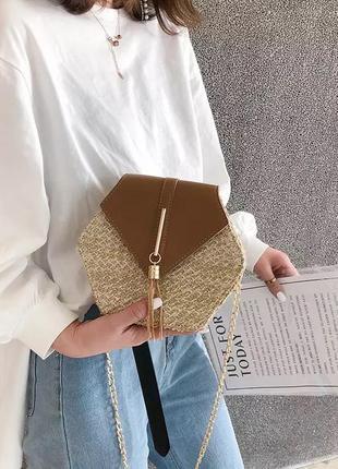 Летняя, соломенная сумка 😍