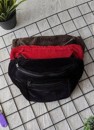 -55% очень стильная, вместительная сумка на пояс, бананка из вельвета! качество +++2 фото