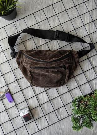 -55% очень стильная, вместительная сумка на пояс, бананка из вельвета! качество +++3 фото