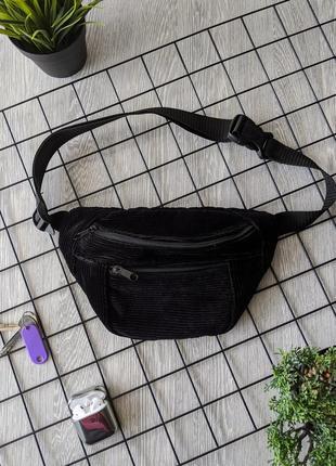 -55% очень стильная, вместительная сумка на пояс, бананка из вельвета! качество +++1 фото