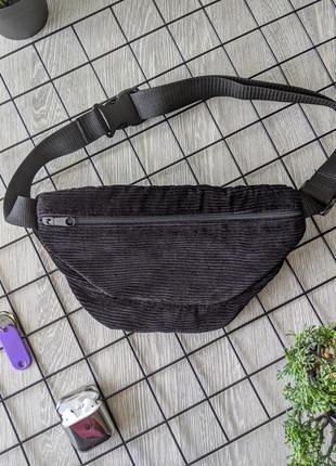 -55% очень стильная, вместительная сумка на пояс, бананка из вельвета! качество +++5 фото