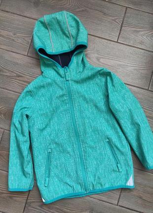 Куртка topolino 116см soft shell в отличном состоянии