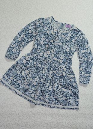 Платье f&f с длинным рукавом на 3-4 года