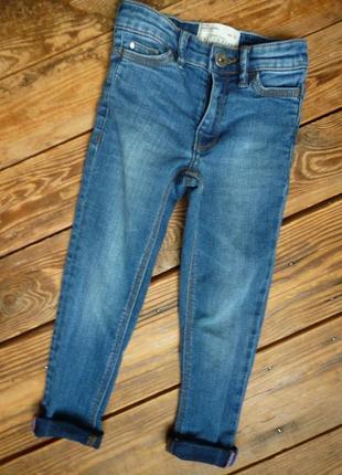 Джинсы matalan узкачи скинни на 3-4 года стречевые штаны джинсовые лосины
