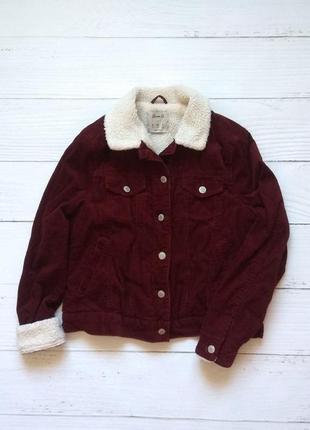 Вельветовая куртка пиджак теплый