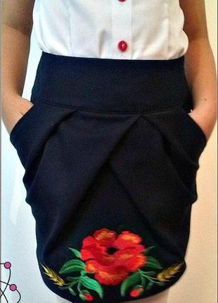 Школьная юбка-вышиванка №512-5