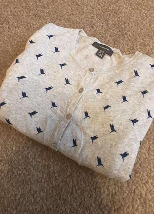 Красивая кофточка кардиган с колибри primark оригинал