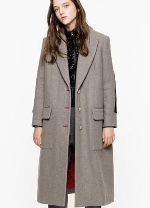 Новое шерстяное пальто zadig & voltaire оригинал утеплённое премиум оверсайз