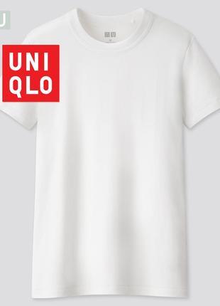 Классическая базовая однотонная женская хлопковая футболка uniqlo в винтажном стиле