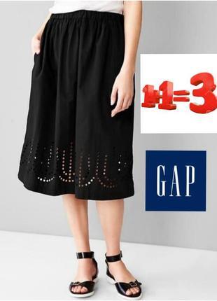 Gap черная юбка миди с карманами