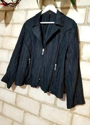 Стильный жакет пиджак жатка с молниями
