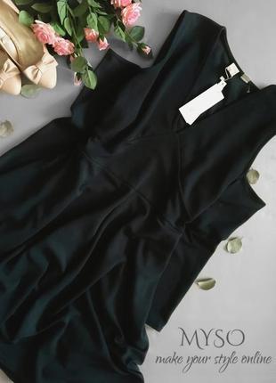 Оригинальное платье бутылочного цвета lost ink3 фото