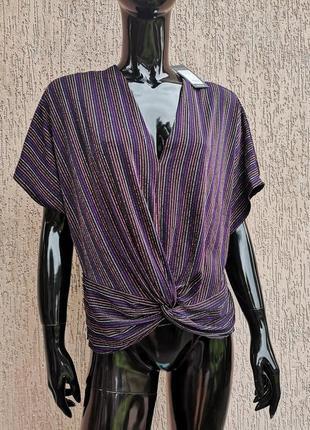 Новая блестящая блуза с люрексом new look