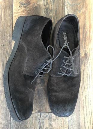Фирменные замшевые туфли prada оригинал италия