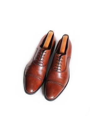 Мужские кожаные туфли santoni оксфорды броги оригинал италия