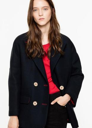 Новое шерстяное пальто zadig & voltaire оригинал полупальто куртка премиум