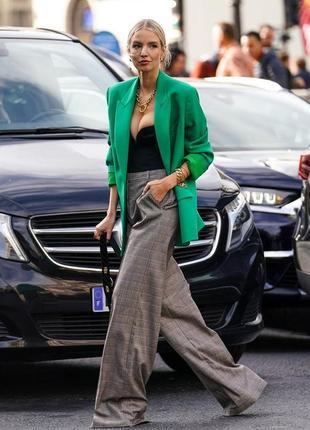 Стильный яркий льняной пиджак жакет удлиненный с карманами