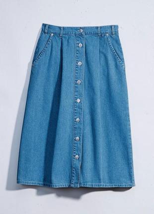 Джинсовая синяя юбка от damart