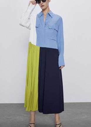 Колор блок  платье zara premium collection