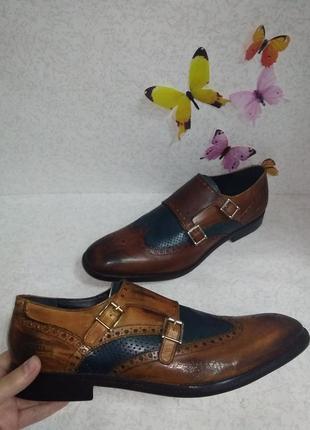 Кожаные туфли броги дерби монты melvin&hamilton (мелвин энд хамильтон) 45р.