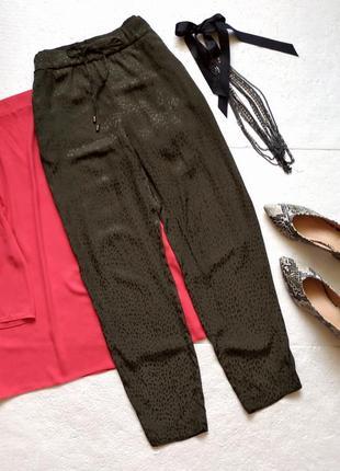 Летние брюки бананы h&m из натуральной ткани в леопардовый принт, джогеры