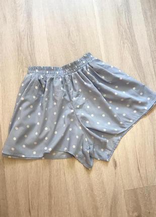 Нові літні шорти в горох новые шорты на резинке в горошек denim co s/m